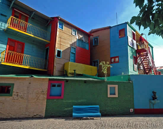 Colorful houses in La Boca, Buenos Aires