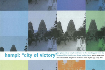 Cover of Hampi: 'City of Victory' by Ande Wanderer from Blue magazine