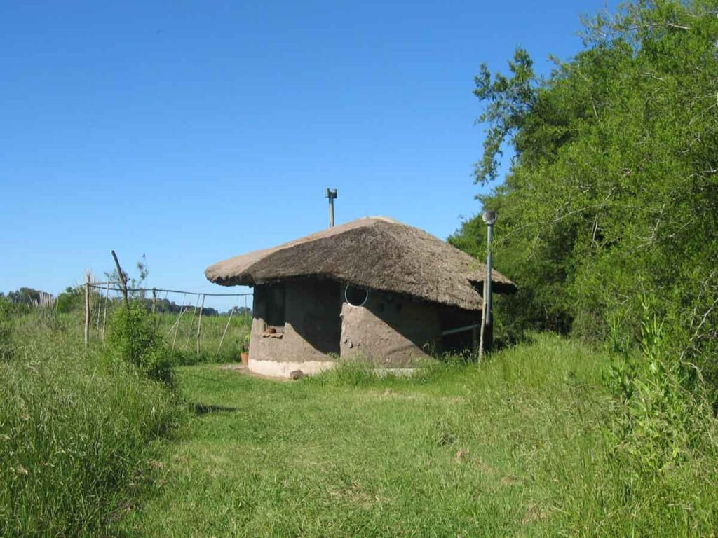 A small natural permaculture house at Gaia in Argentina