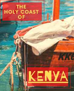 Sailboat with the words: Kenya-the-holy-coast