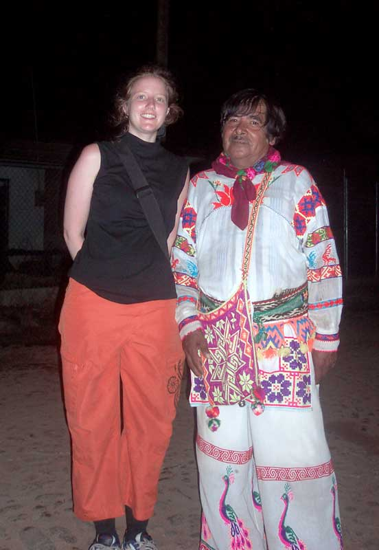 Ande Wanderer with the Local Shaman in native dress