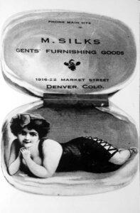 19th century ad for Mattie Silks Brothel