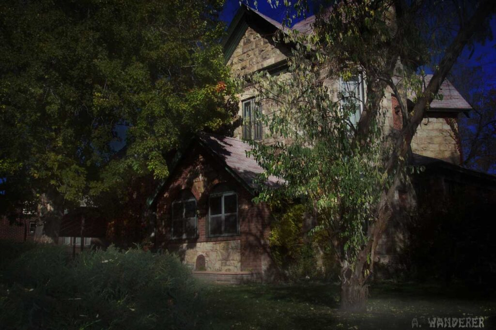 A spooky image of 3520 Newton Street in North Denver