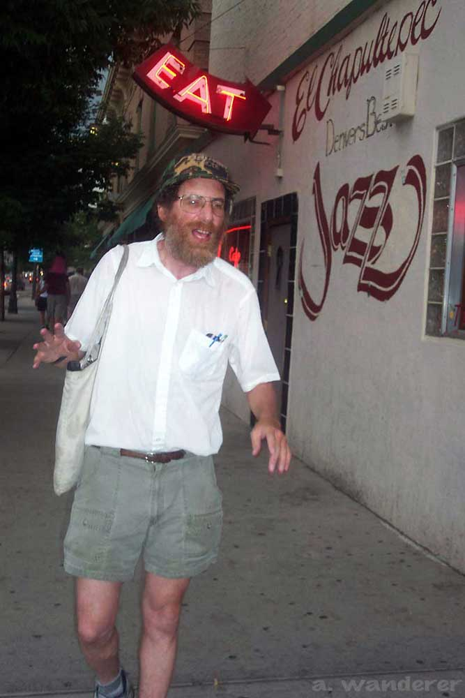 Author and historian, Phil Goodstein outside of Denver's El Chapultepec Jazz Club